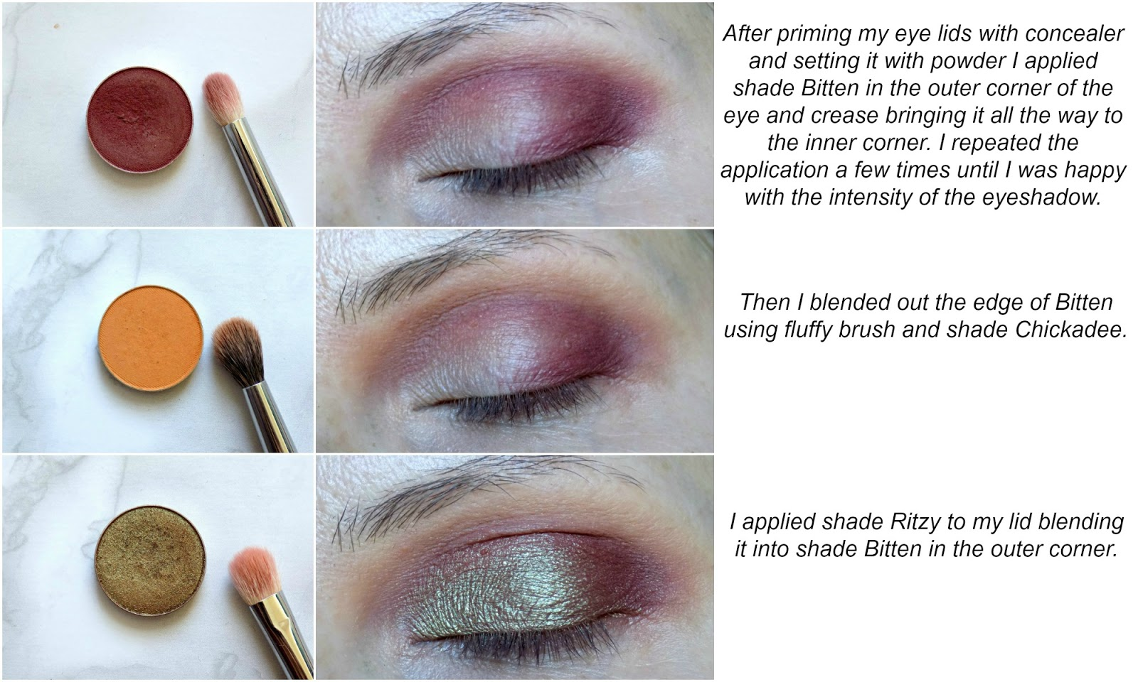 green & burgundy eye look tutorial