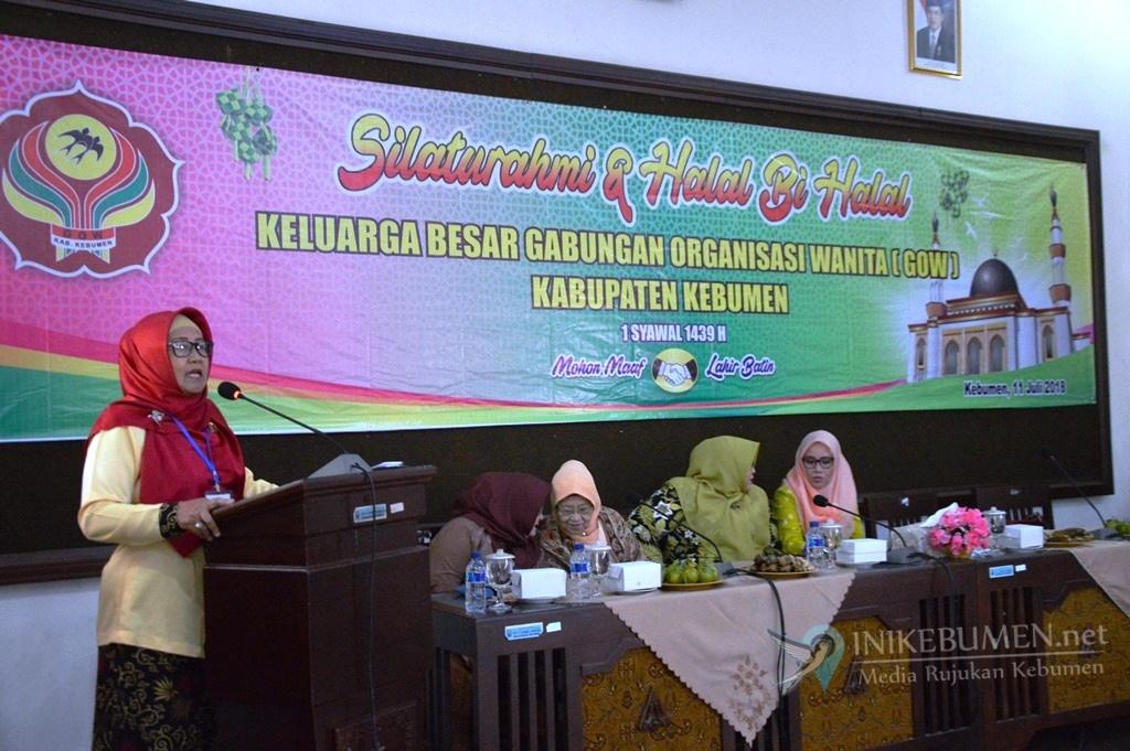 Gelar Halal Bihalal, GOW Kebumen Tegaskan Konsisten Bantu Program Pemerintah