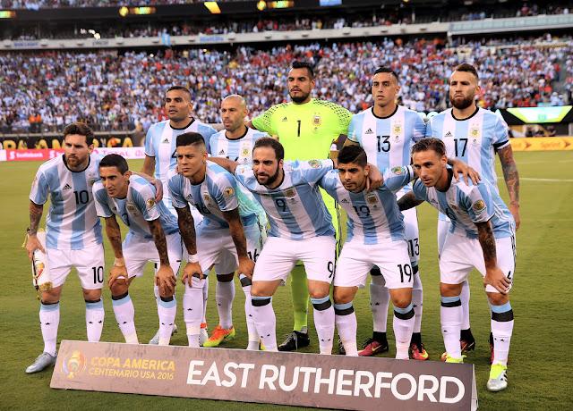 Formación de Argentina ante Chile, Copa América Centenario, 26 de junio de 2016