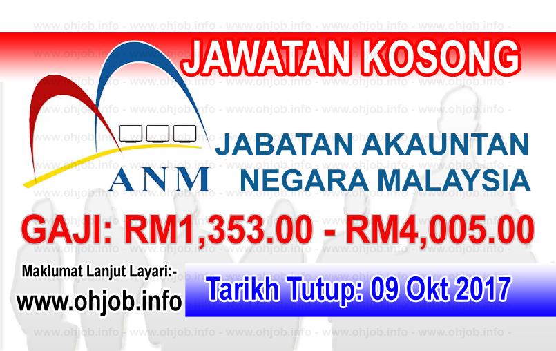 Jawatan Kerja Kosong ANM - Jabatan Akauntan Negara Malaysia logo www.ohjob.info oktober 2017
