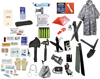 Image: Two Person Supply 3 Day Emergency Bug Out S.O.S. Food Rations, Drinking Water, LifeStraw Personal Water Filter, First Aid Kit, Tent, Blanket, ACU Poncho + Essential 21 Piece Survival Gear Set