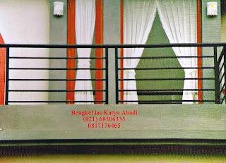 contoh desain pagar balkon minimalis