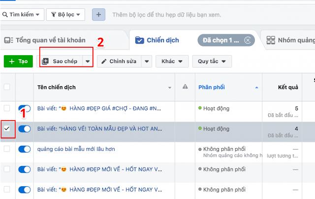 Sao Chép Quảng Cáo Facebook