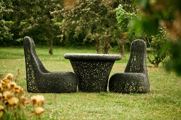 volcanic rock furniture