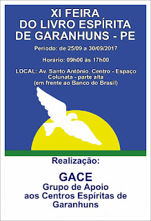XI FEIRA DO LIVRO ESPÍRITA DE GARANHUNS - PE