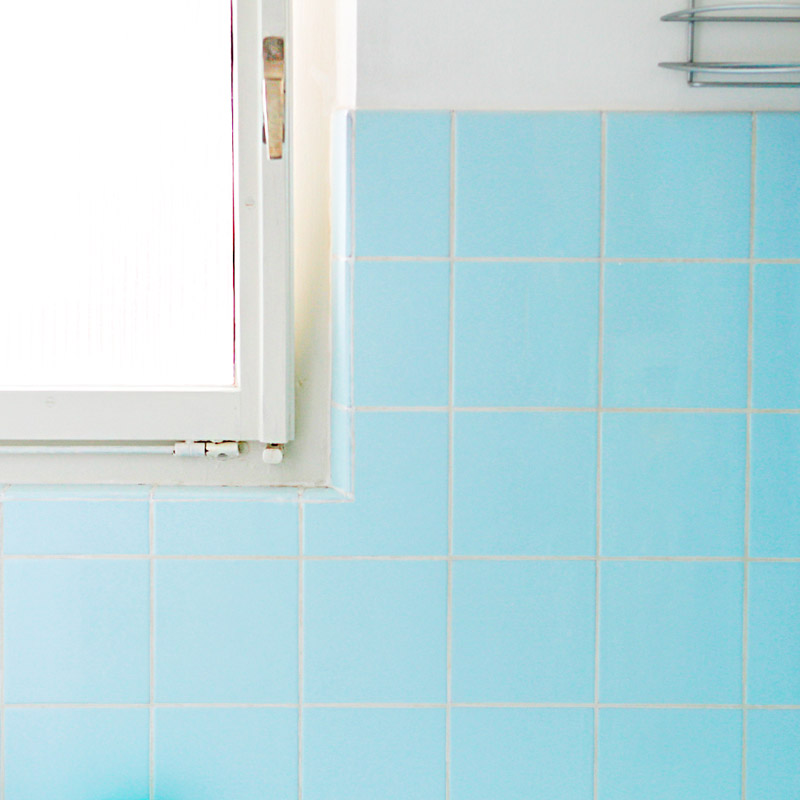 carrelage emaillé céramique colorée salle de bain