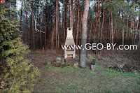 СT Лесное-Ливье. Печка среди леса