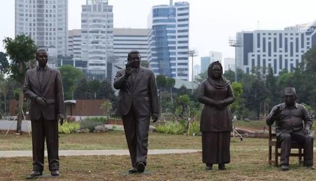 7 Potret Patung Presiden Indonesia Kini Hiasi Hutan Kota GBK