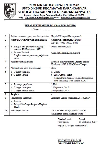 download contoh sppd surat perintah perjalanan dinas