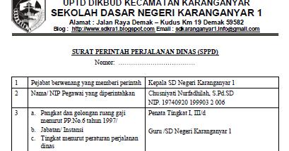 Download Contoh SPPD (Surat Perintah Perjalanan Dinas