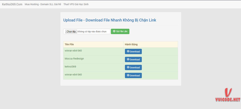 Source Code Upload File Nhanh Bằng PHP & SQL