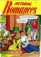 Pictorial Romances v1 #5  st. john romance comic book cover art by Matt Baker