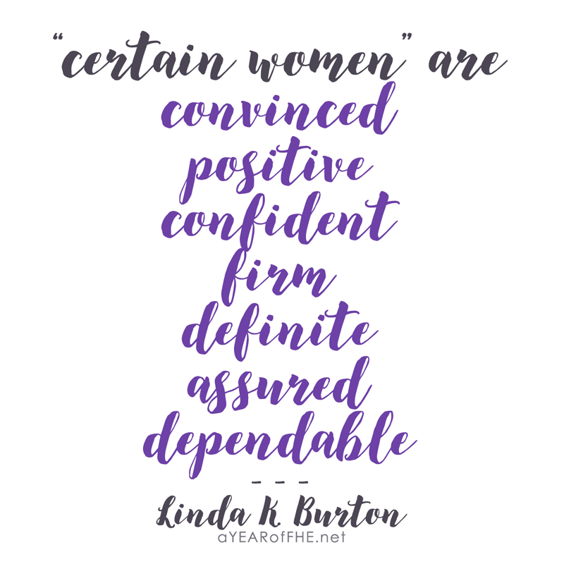 A Year of FHE // Quote from the LDS General Conference Women's Session - March 2017