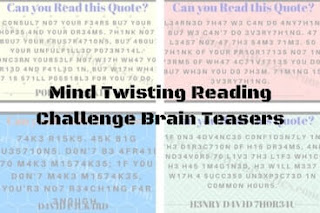 Mind Twisting Reading Challenge Brain Teasers