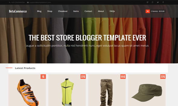 BetaCommerce Responsive eCommerce Blogger Template
