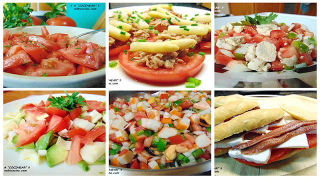 Ideas fáciles con tomate