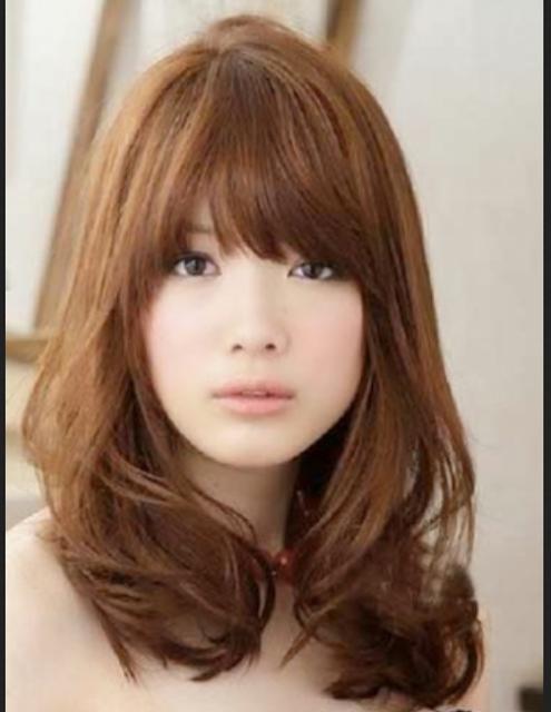 model rambut segi ala artis korea