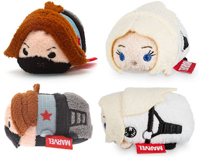 Captain America Civil War Winter Soldier & Agent 13 Tsum Tsum Marvel Plushes by Disney