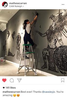 Mathew Curran Cassie Jo Cam Raleigh museum installation stencils