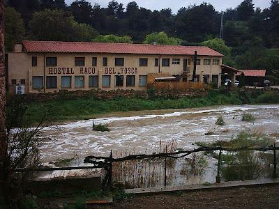 riu de les basses, toll Rabosa ,racò del toscà ,riada