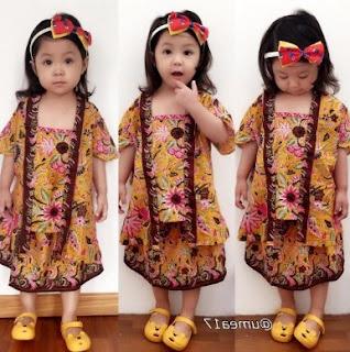 Model baju batik anak perempuan usia 3 tahun
