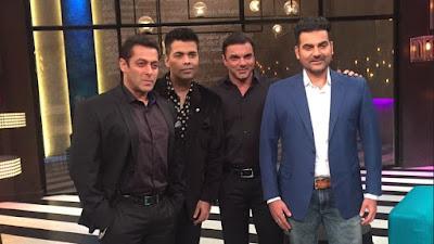 सलमान खान, अरबाज़ खान और सोहेल खान के साथ करण जौहर के शो पर आएंगे