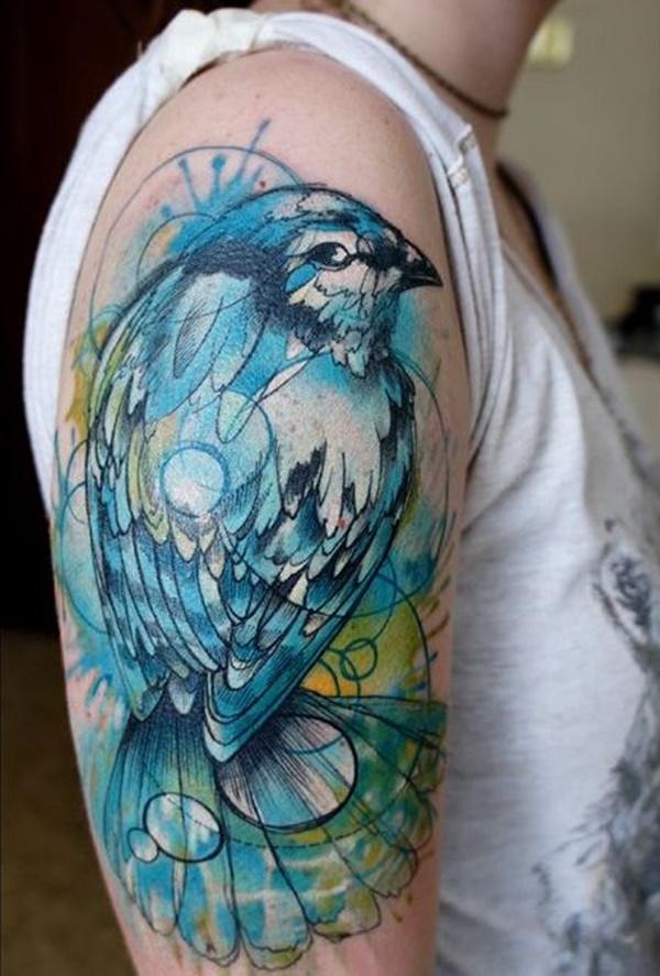 tatuagem azul
