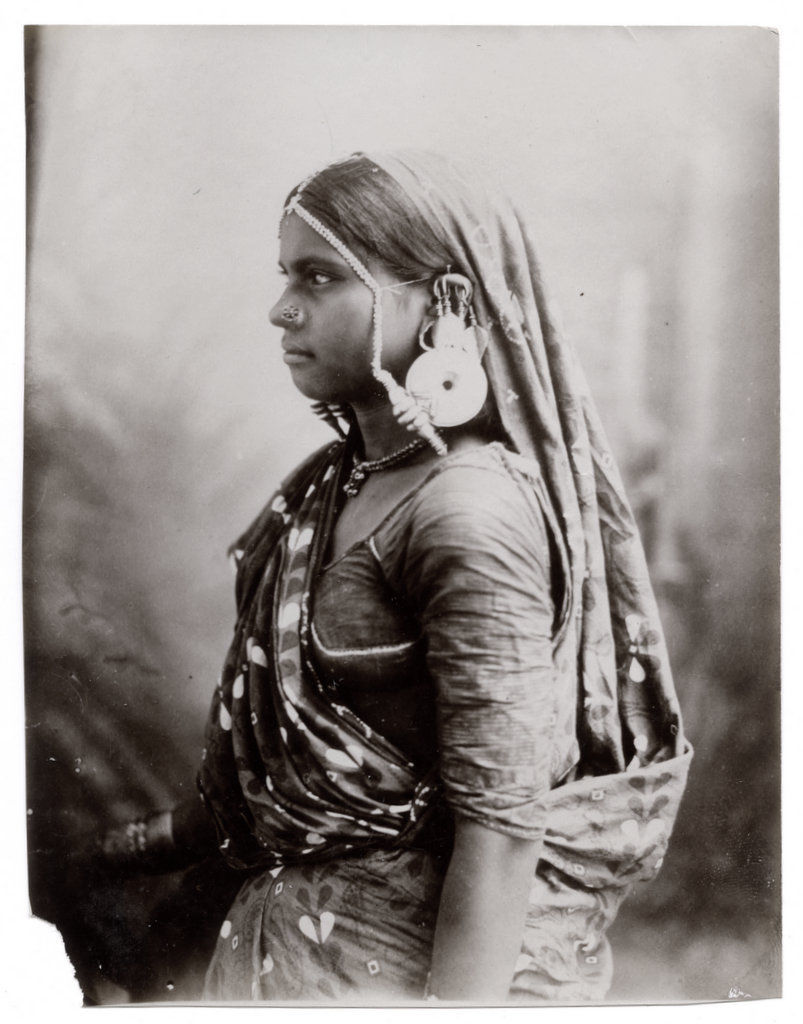 Woman with Large Ear Ring - Circa 1890's