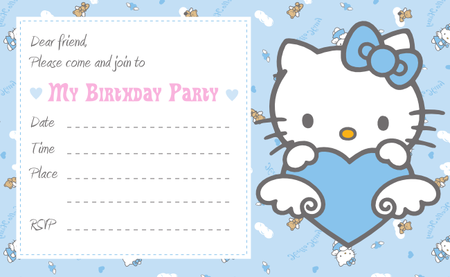free download cute printables template free printable hello kitty invitation birthday party