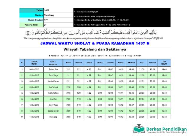 Download Aplikasi Jadwal Ramadhan Berbasis Sistem Pakar