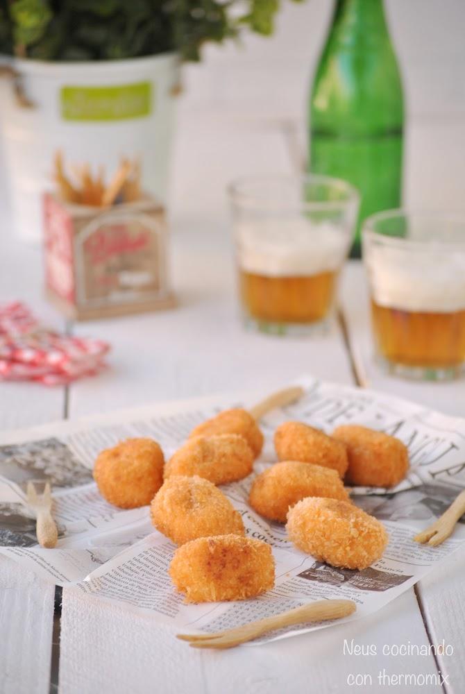 Croquetas de sobrasada y queso de Mahón