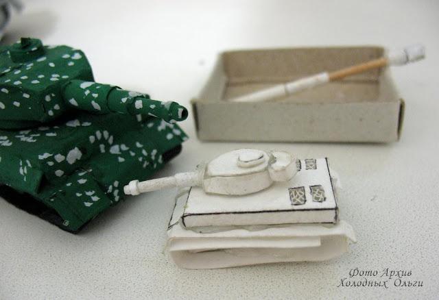 Танк заготовка миниатюра