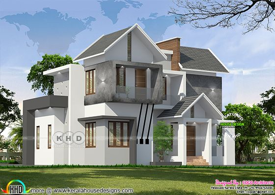 $39 K cost estimated villa front view rendering