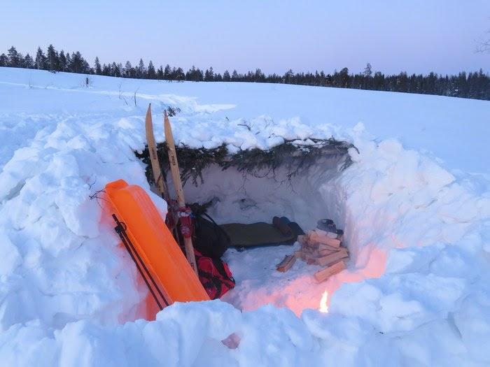 Bivack i snö