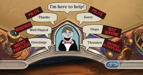 Growing Up Gamers: Dear Hearthstone Players: Please Learn Some Dang Manners!