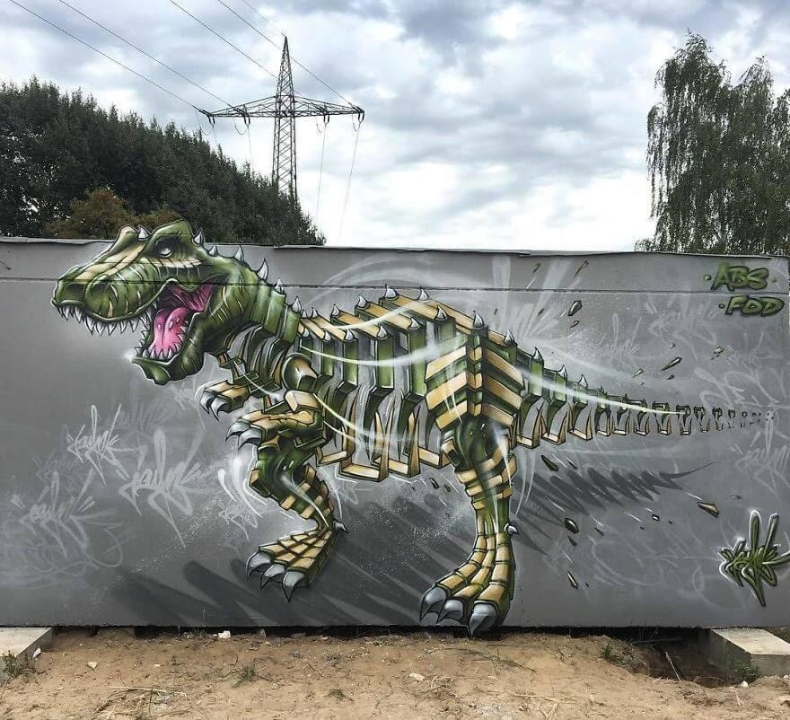 02-T-Rex-Dinosaur-Jayn-Slice-Style-Animal-Street-Art-www-designstack-co