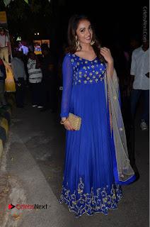 Telugu Actress Tejaswi Madivada Pos in Blue Long Dress at Nanna Nenu Na Boyfriends Audio Launch  0118.JPG