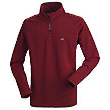 Nordcap Herrenfunktionsshirt, schnelltrocknendes Langarm-Shirt in Rot, für Sport & Outdoor-Aktivitäten, Herren-Thermoshirt (Größe: M - 3XL)