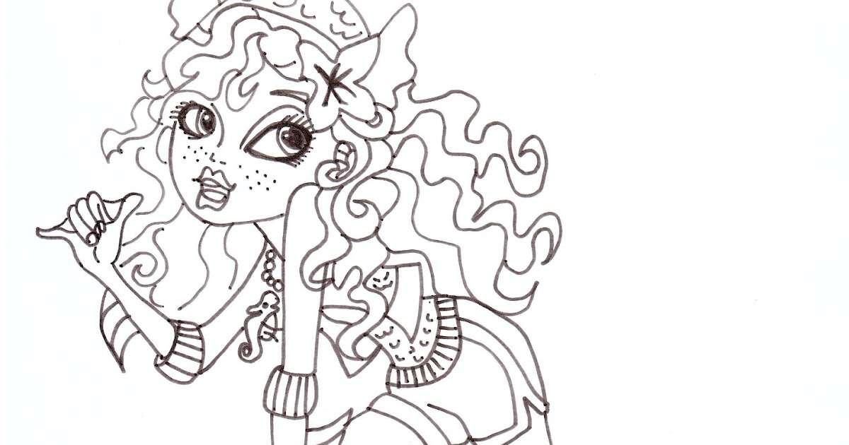 Free Printable Monster High Coloring Pages: Lagoona