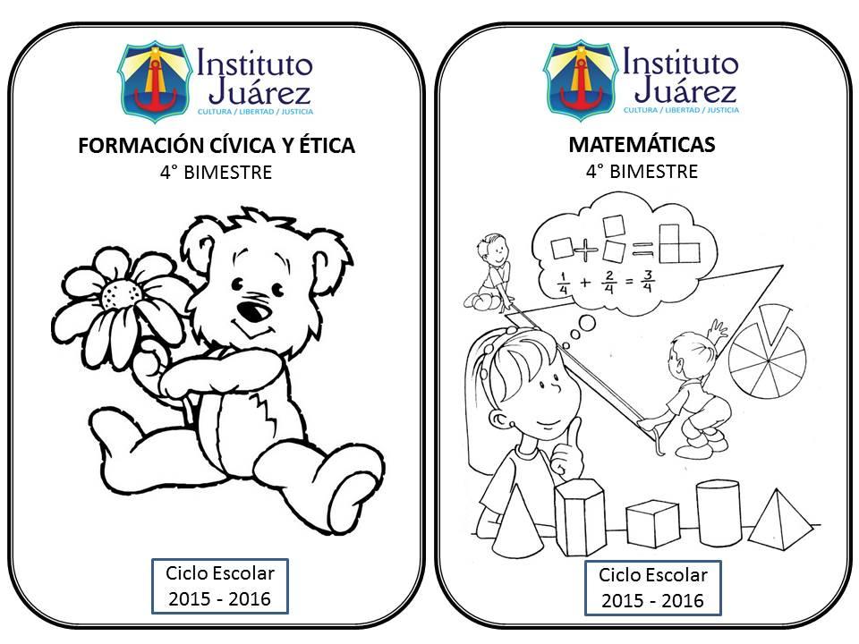 Imagenes Para Portada De Español Para Colorear: Instituto Juárez 5° Primaria: Portadas Del 5to Bimestre De