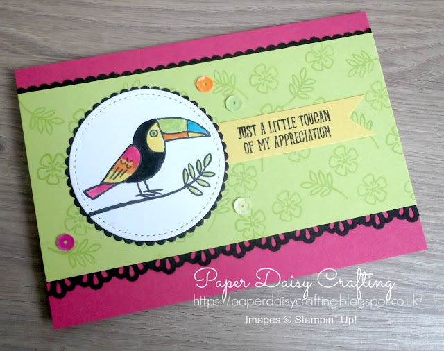 Thank you card idea with Bird Banter from Stampin' Up!