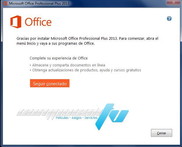Microsoft Office Professional Plus 2013 Full Español + Serial