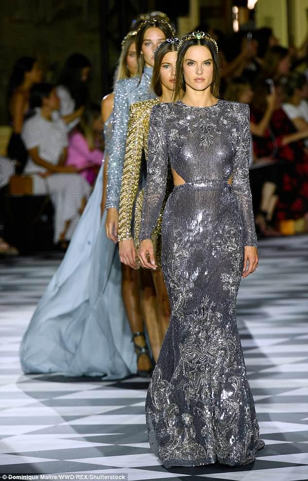 Alessandra Ambrosio - Zuhair Murad Paris Haute Couture Fashion Week