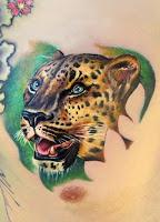 леопард тату