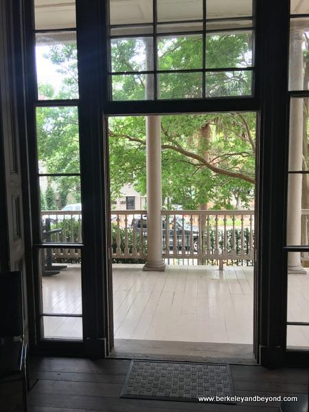 Victorian window-door at Aiken-Rhett House Museum in Charleston, South Carolina