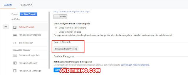 Cara Menghubungkan Search Console dengan Google Analytics