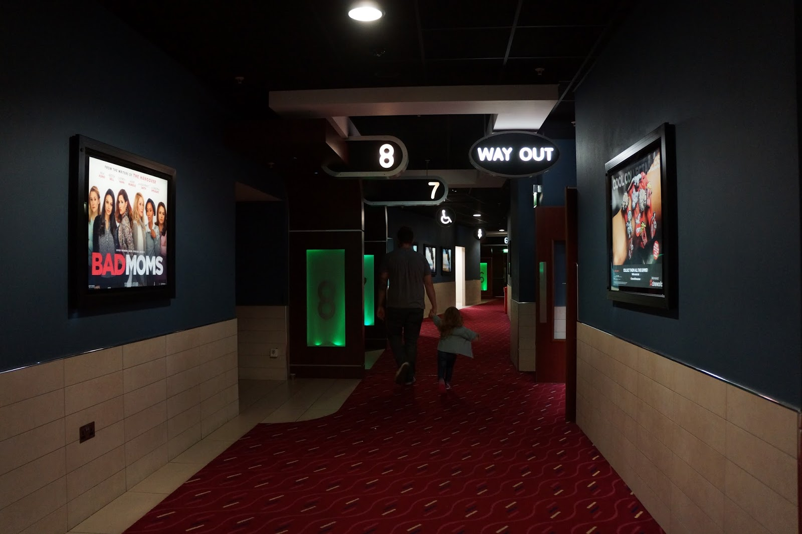walking inside the corridor at cineworld theatres at the o2