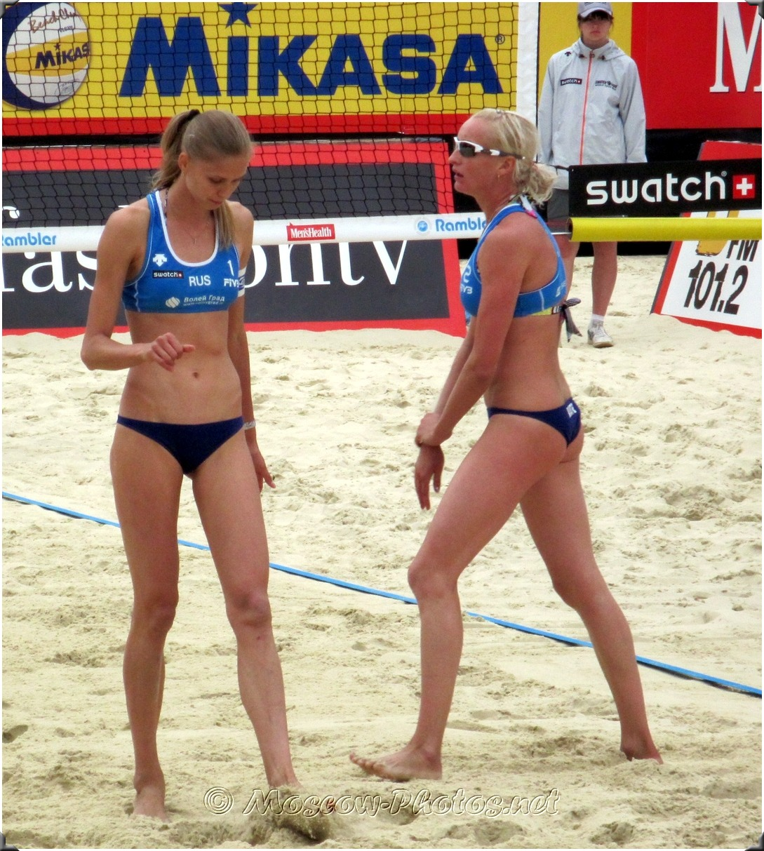 Beach Volleyball Players - Russian Team