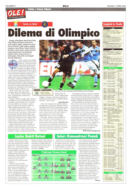 LAZIO VS INTER DILEMA DI OLIMPICO