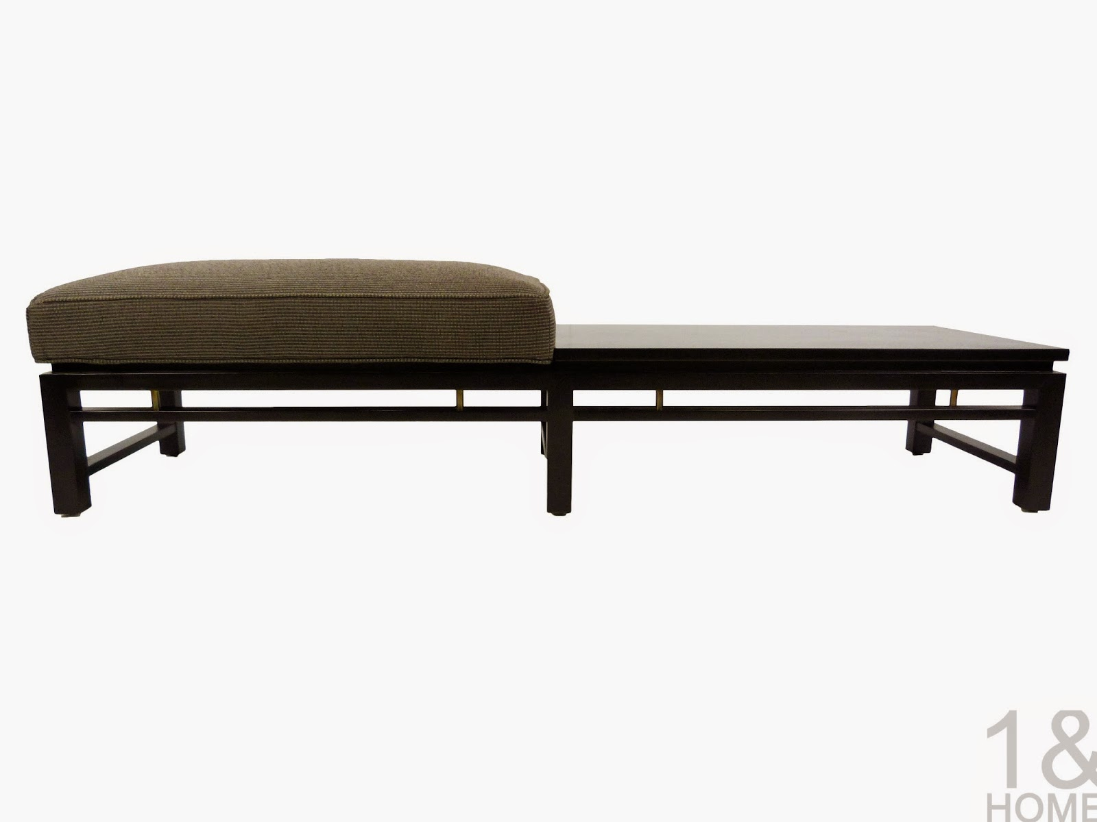 Ebonized Dunbar Bench Table Edward Wormley Mid-Century Modern